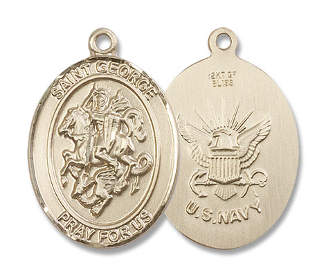 St. George Navy Medal - 14K Solid Gold