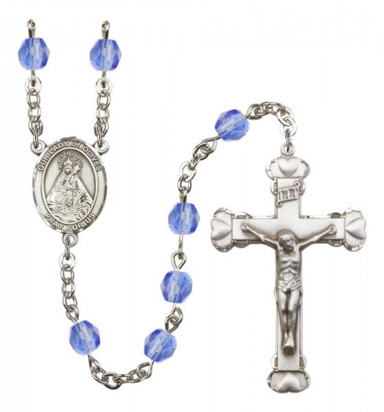 Women's Our Lady of Olives Birthstone Rosary - Sapphire