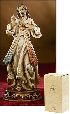 "Divine Mercy Statue - 6.5""H - Multi-Color"