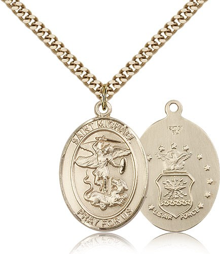 St. Michael Air Force Medal - 14KT Gold Filled