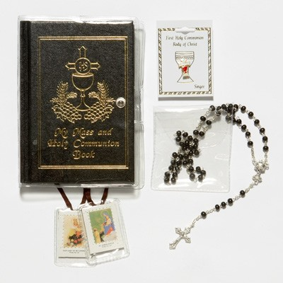 Boy's First Communion Gift Set with Mass Book - Multi-Color