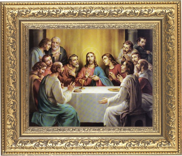 Last Supper Framed Print - #115 Frame
