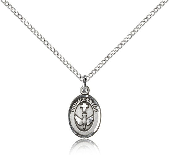 Girl's Confirmation Medal - Sterling Silver