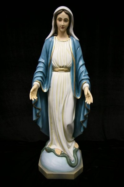 Our Lady of Grace Statue Hand Painted Marble Composite - 40 inch - Full Color