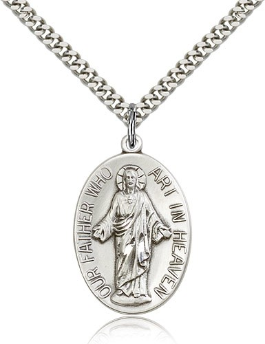 Our Father Pendant - Sterling Silver
