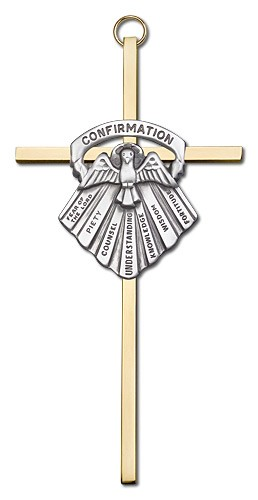 "Gifts of Confirmation Wall Cross 6"" - Two-Tone Gold"