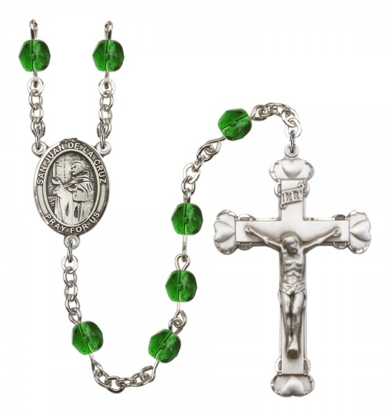 Women's San Juan de la Cruz Birthstone Rosary - Emerald Green