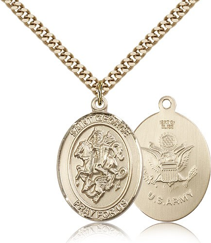 St. George Army Medal - 14KT Gold Filled