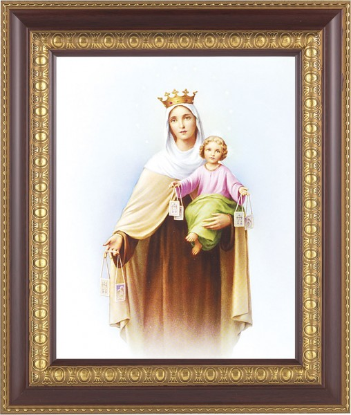 Our Lady of Mt. Carmel Framed Print - #126 Frame