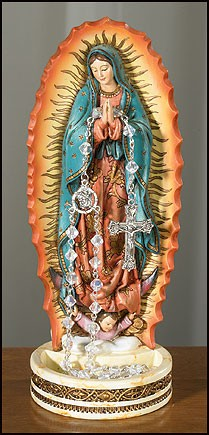 "Our Lady of Guadalupe Rosary Holder - 8""H - Multi-Color"