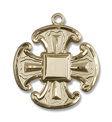 Canterbury Cross Pendant - 14K Solid Gold