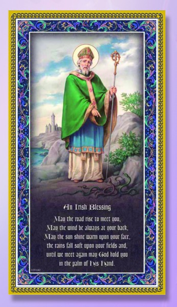 St. Patrick Italian Prayer Plaque - Multi-Color
