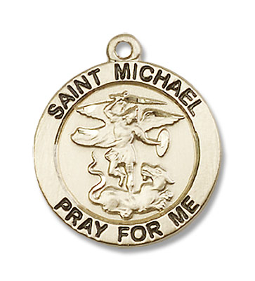 Women's St. Michael The Archangel Medal - 14K Solid Gold