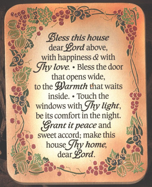 Bless This House Wall Plaque From Catholic Faith Store 7