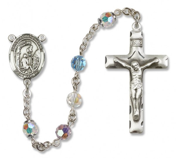 Paul the Hermit Rosary Heirloom Squared Crucifix - Multi-Color