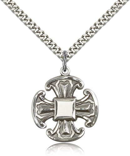Canterbury Cross Pendant - Sterling Silver