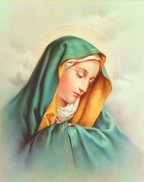 Our Lady of Sorrows Print - Sold in 3 per pack - Multi-Color