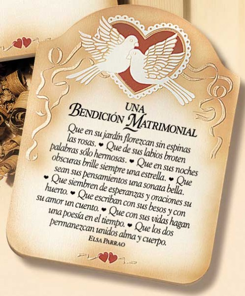 Bendicion Matrimonio Biblia : Una bendicion matrimonial wall plaque