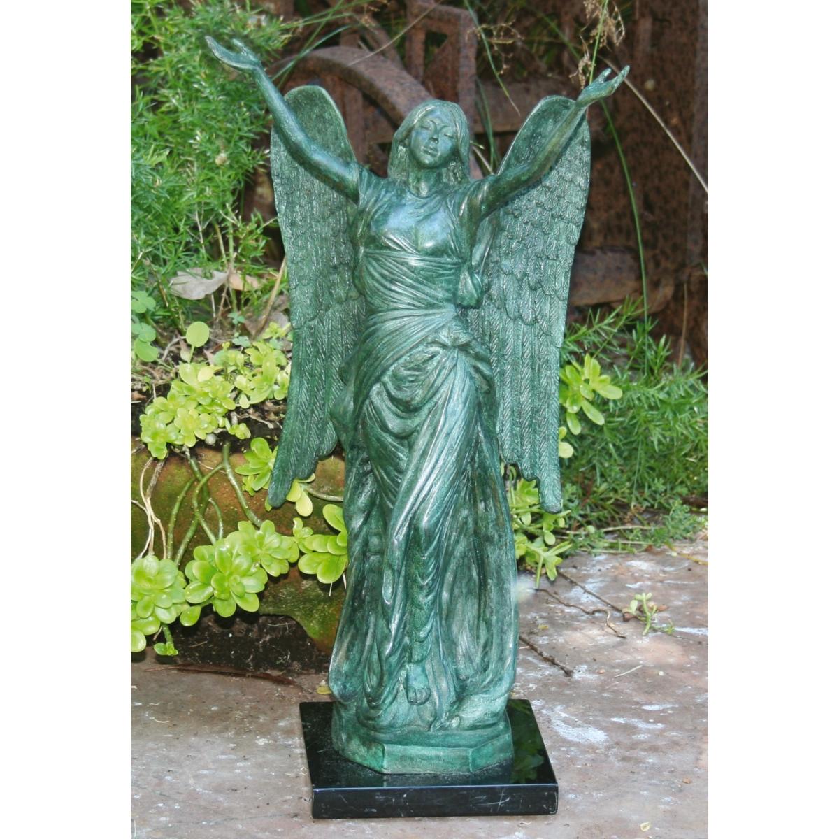 Bronze garden statues quotes - Angel statue for garden ...