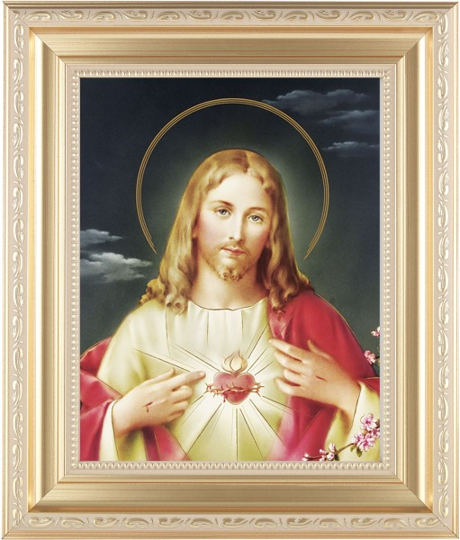 Sacred Heart of Jesus Framed Print - #138 Frame