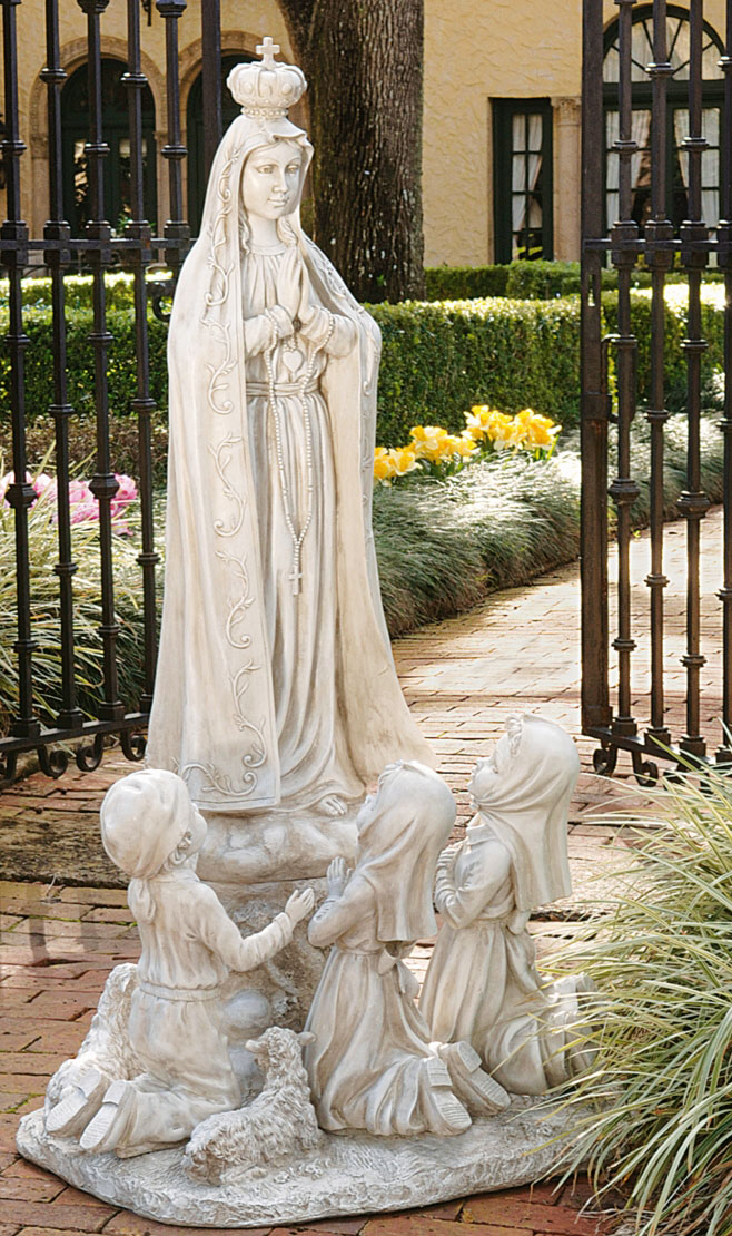 Our Lady of Fatima Statue - Stone