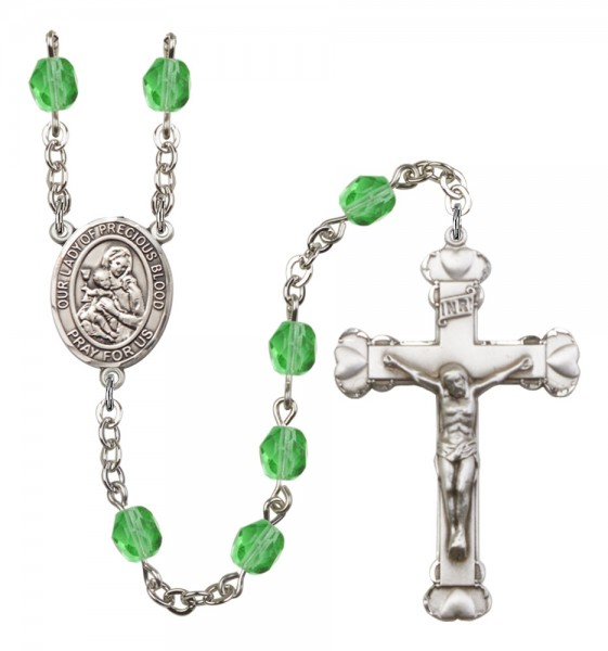 Women's Our Lady of the Precious Blood Birthstone Rosary - Peridot
