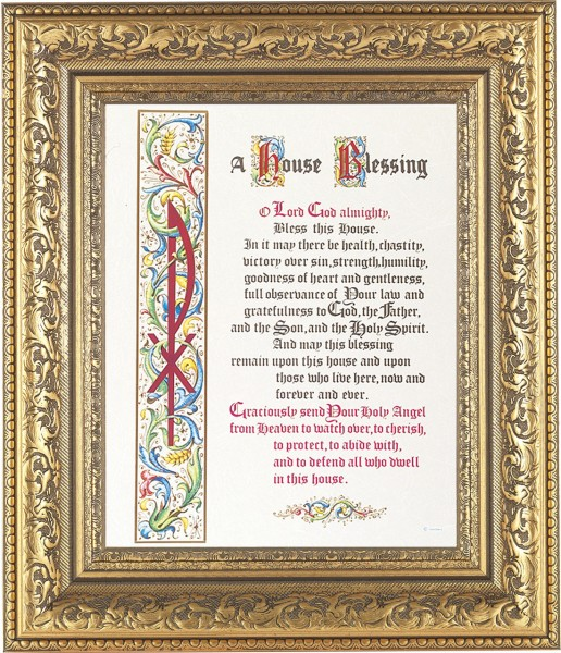 A House Blessing Prayer Framed Print - #115 Frame