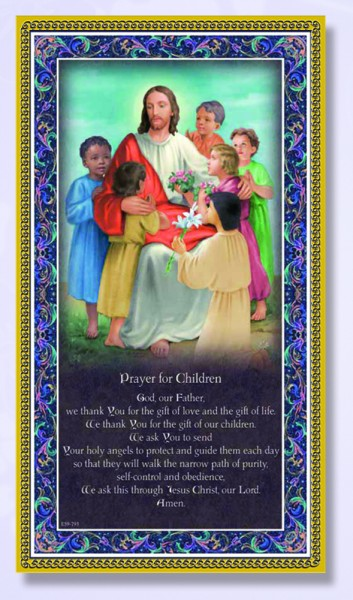 Prayer For Children Italian Prayer Plaque - Multi-Color