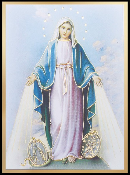 Our Lady of The Miraculous Medal Magnetic Frame 4 Per Pack - Full Color