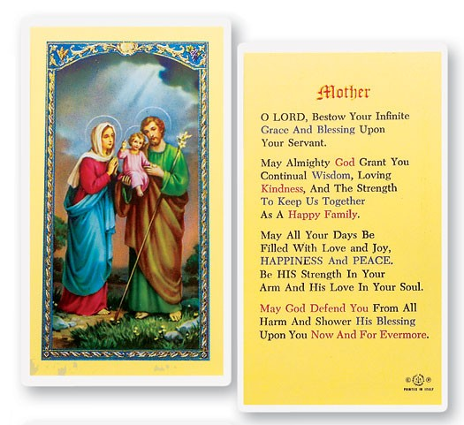 Prayer For Mother Laminated Prayer Cards 25 Pack - Full Color