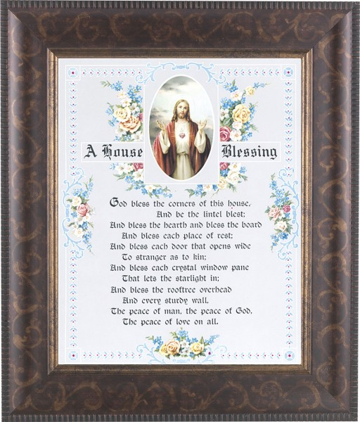 A House Blessing Prayer Framed Print - #124 Frame