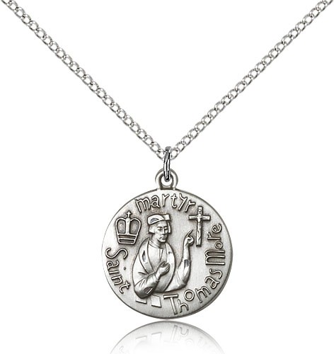 Women's St. Thomas More Martyr Medal - Sterling Silver