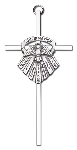 "Gifts of Confirmation Wall Cross 6"" - Silver tone"