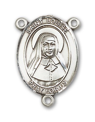 St. Louise De Marillac Rosary Centerpiece Sterling Silver or Pewter - Sterling Silver