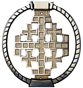 Jerusalem Cross Door Knocker - Bronze