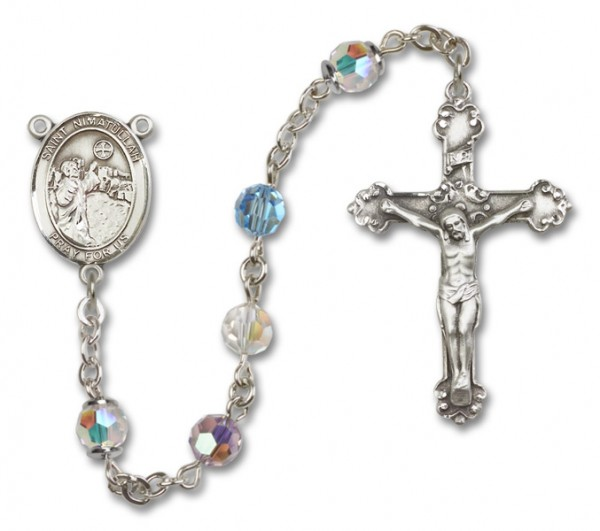 St. Nimatullah Sterling Silver Heirloom Rosary Fancy Crucifix - Multi-Color