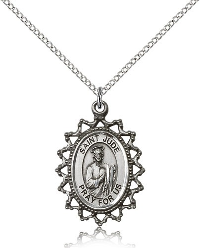 Women's St. Jude Medal - Sterling Silver
