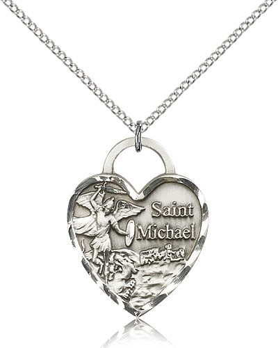 St. Michael The Archangel Medal - Sterling Silver