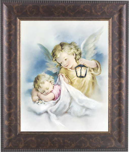 Guardian Angel Watching Over Me Framed Print - #124 Frame