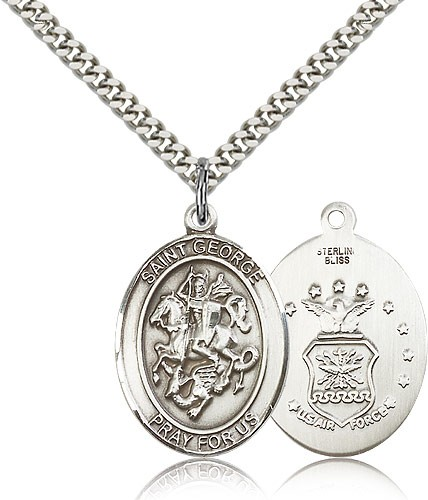 St. George Air Force Medal - Sterling Silver