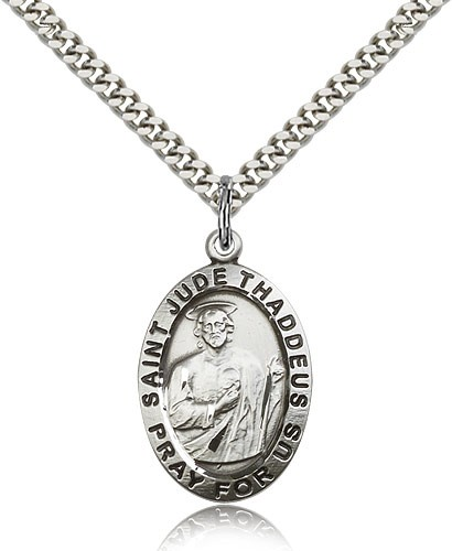 Men's St. Jude Medal - Sterling Silver