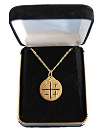 Jerusalem Cross Pendant - Gold Tone