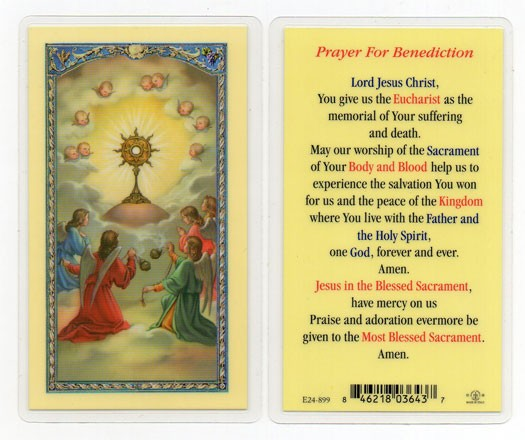 Prayer For Benediction Laminated Prayer Cards 25 Pack - Full Color
