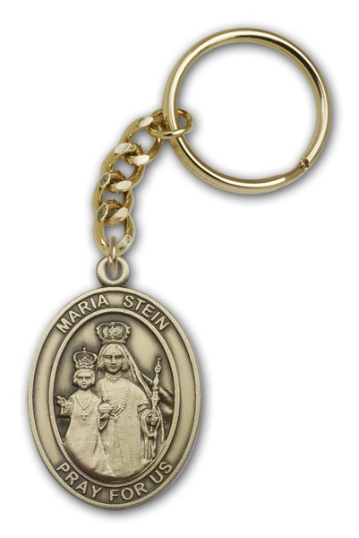 Maria Stein Keychain - Antique Gold