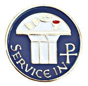Service in Christ Lapel Pin - Blue | Gold