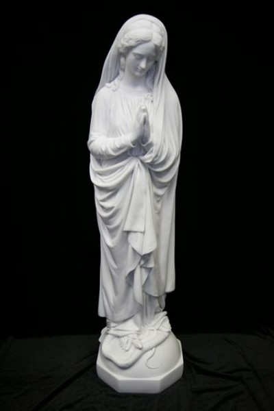 Immaculate Conception Statue White Marble Composite - 45 inch - White