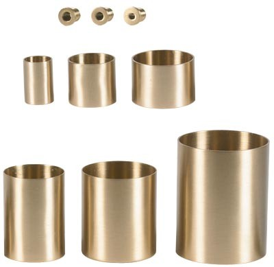 Candle Holders Church Size Brass Sockets  - Brass