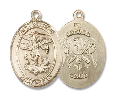St. Michael Nat'l Guard Medal - 14K Solid Gold