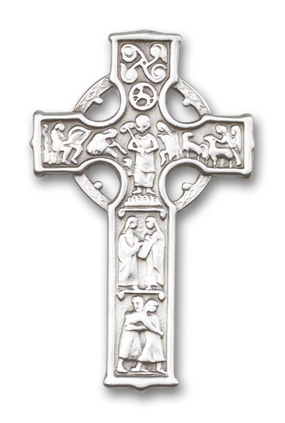 Celtic Cross Visor Clip - Antique Silver