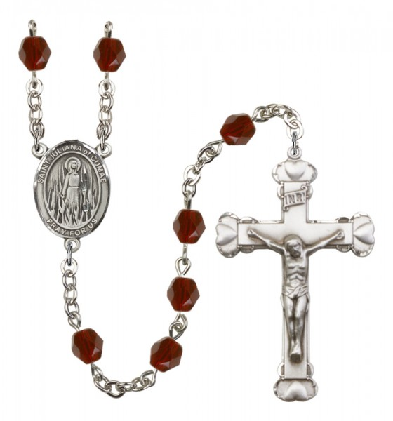Women's St. Juliana of Cumae Birthstone Rosary - Garnet